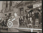 John F. Kennedy makes a speech in front of City Hall, Newark, N.J.