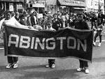 Abington students march in the Columbus Day Parade by Ace (Armando) Alagna, 1925-2000