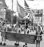 Belleville High School majorettes march in the Columbus Day Parade by Ace (Armando) Alagna, 1925-2000