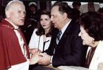 The Alagna family greets Pope John Paul II