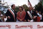 Danny Aiello, Christine Todd Whitman and Ace Alagna on the dias at the 1995 Columbus Day Parade by Ace (Armando) Alagna, 1925-2000