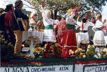 Alagna Civic & Welfare Association float in the Columbus Day Parade by Ace (Armando) Alagna, 1925-2000