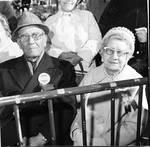 Spectators at Columbus Day Parade