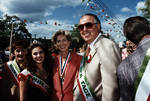 Woman of the Year, Miss Columbus Day, Christine Tod Whitman and Anthony Marino at the 1995 Columbus Day Parade