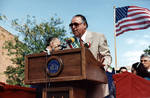 Anthony Marino speaks at the 1995 Columbus Day Parade