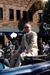 Anthony Marino rides in the 1995 Columbus Day Parade by Ace (Armando) Alagna, 1925-2000