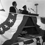 Making a speech at the 1971 Columbus Day Stadium Gala