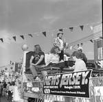 Columbus Day Parade: New Jersey Network float featuring Uncle Floyd Viviani