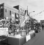 Columbus Day Parade Columbus float by Ace (Armando) Alagna, 1925-2000