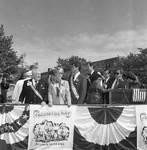 Columbus Day Parade Peter Rodino, Geraldine Ferraro, Buddy Fortunado by Ace (Armando) Alagna, 1925-2000