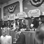 Columbus Day Dinner Captain Azzolina, Man of the Year; Valjean Guarino, Woman of the Year; Frankie Avalon, Grand Marshall; Bishop Jerome Pechillo; Cav. Marco Cangialosi, Humanitarian