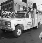 Columbus Day Parade Orange Fire Dept contingent by Ace (Armando) Alagna, 1925-2000