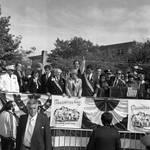 Columbus Day Dinner Bishop Pechillo, Peter Rodino, Geraldine Ferraro, Senator Bill Bradley, Buddy Fortunado, Congressman Frank Guarini, Mrs Fortunado by Ace (Armando) Alagna, 1925-2000