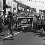 Columbus Day Parade Elliott Street School contingent by Ace (Armando) Alagna, 1925-2000