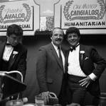 Buddy Fortunado, man and Frankie Avalon at the Columbus Day Parade Dinner