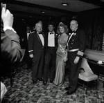Miss Columbus 1984 poses with man, Frankie Avalon and Captain Azzolina