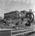 Italian Tribune float in Columbus Day Parade