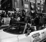 Grand Marshall Frankie Avalon rides with Ace Alagna in the 1984 Columbus Day Parade