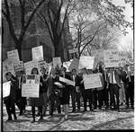 Protesters, LBJ event, Princeton University