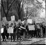 Protesters, LBJ event, Princeton University