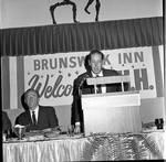 Vice President Hubert Humphrey  at dinner at the Brunswick Inn during 1966 tour of New Jersey