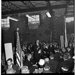 Vice President Hubert Humphrey  delivers a speech during 1966 tour of New Jersey