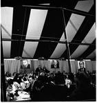 Crowd shot of event during Vice President Hubert Humphrey's 1966 tour of New Jersey