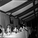 Vice President Hubert Humphrey delivers a speech during dinner on 1966 tour of New Jersey by Ace (Armando) Alagna, 1925-2000
