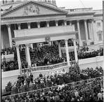 View of the portico and swearing in ceremony, President Richard M. Nixon Inauguration