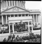 View of portico of the U.S. Capitol, Richard M. Nixon's Inauguration