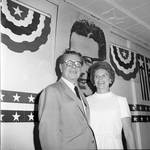 Governor Richard Hughes and Betty Hughes during the 1968 Democratic National Convention, Chicago, Illinois