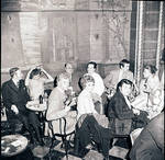 Toni Dalli and others at the Henri IV Chateau restaurant, New York, NY