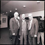 Jose Ferrer at Paper Mill Playhouse, standing with two men