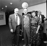 Jose Ferrer at Paper Mill Playhouse  posing with man and woman