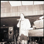 Rudy Vallee on stage