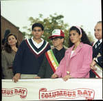 Grand Marshall Joe Pesci at the 1992 Columbus Day Parade with Ace Alagna and others on stage