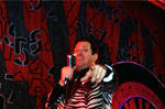 Joe Piscopo, Grease Show, on stage , pointing