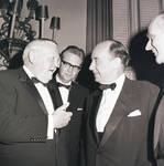 Adlai Stevenson talking with Ludwig Erhard