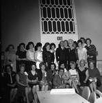 Peter W. Rodino poses with a group at a card party