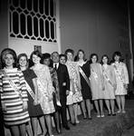 Peter W. Rodino poses with pageant winners