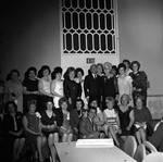 Peter W. Rodino poses with a large group
