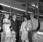 Peter W. Rodino campaigning at grocery store