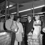 Peter W. Rodino campaigning at the grocery store