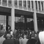 Ceremony in front of the Peter W. Rodino Federal Building