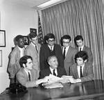Peter W. Rodino and members of the Congress of Youth