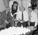 Joe Di Maggio signing baseballs, Ace Alagna and fans