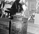 Frankie Avalon standing at a podium
