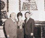 Connie Francis with two men