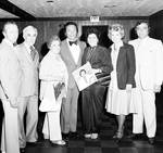 Al Martino standing with group of fans at Don's 21st Al Martino Show by Ace (Armando) Alagna, 1925-2000