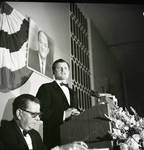Senator Ted Kennedy delivers a speech